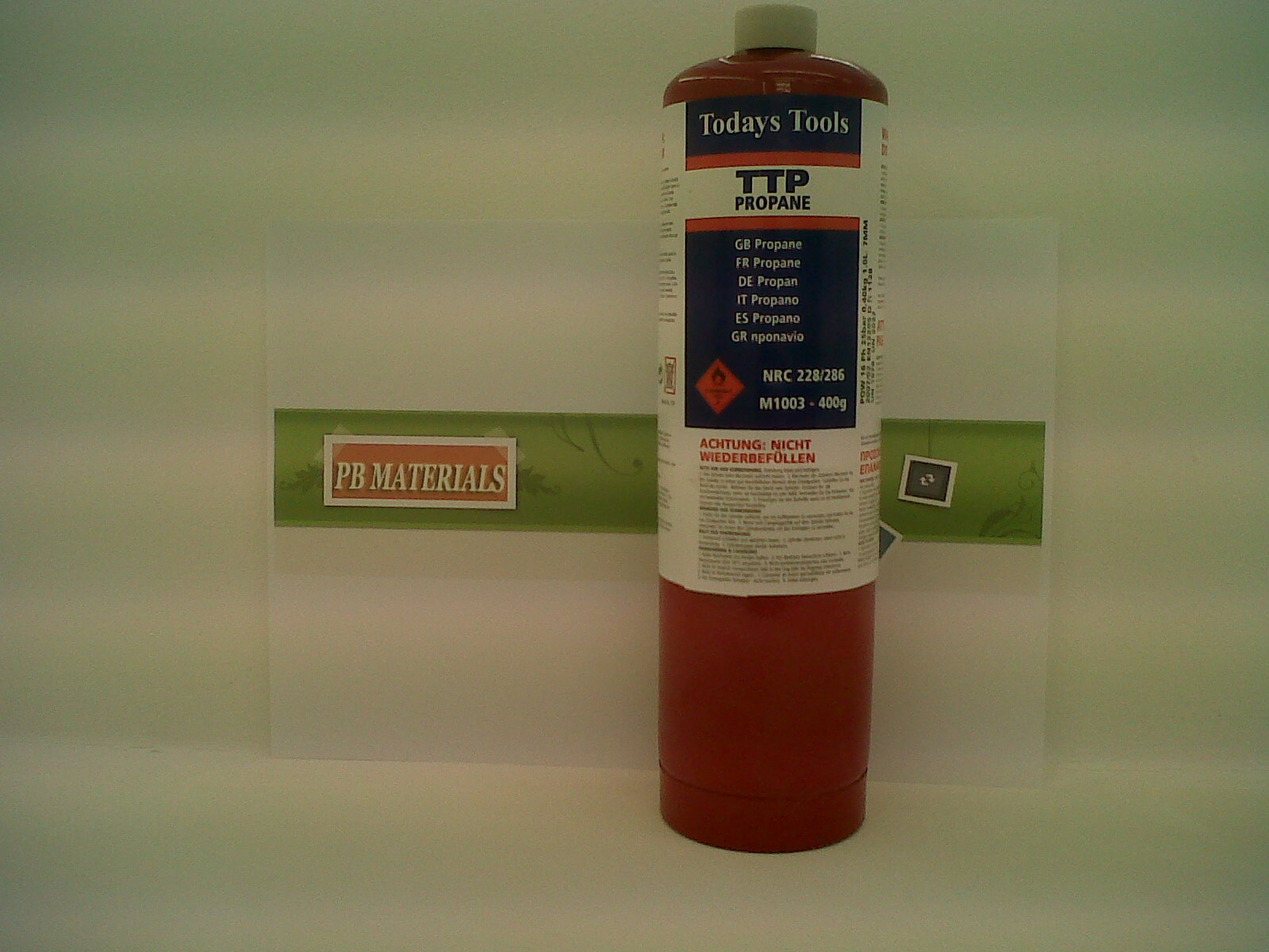 Pb Materials Ttp Red Propane Gas Cylinder 400g