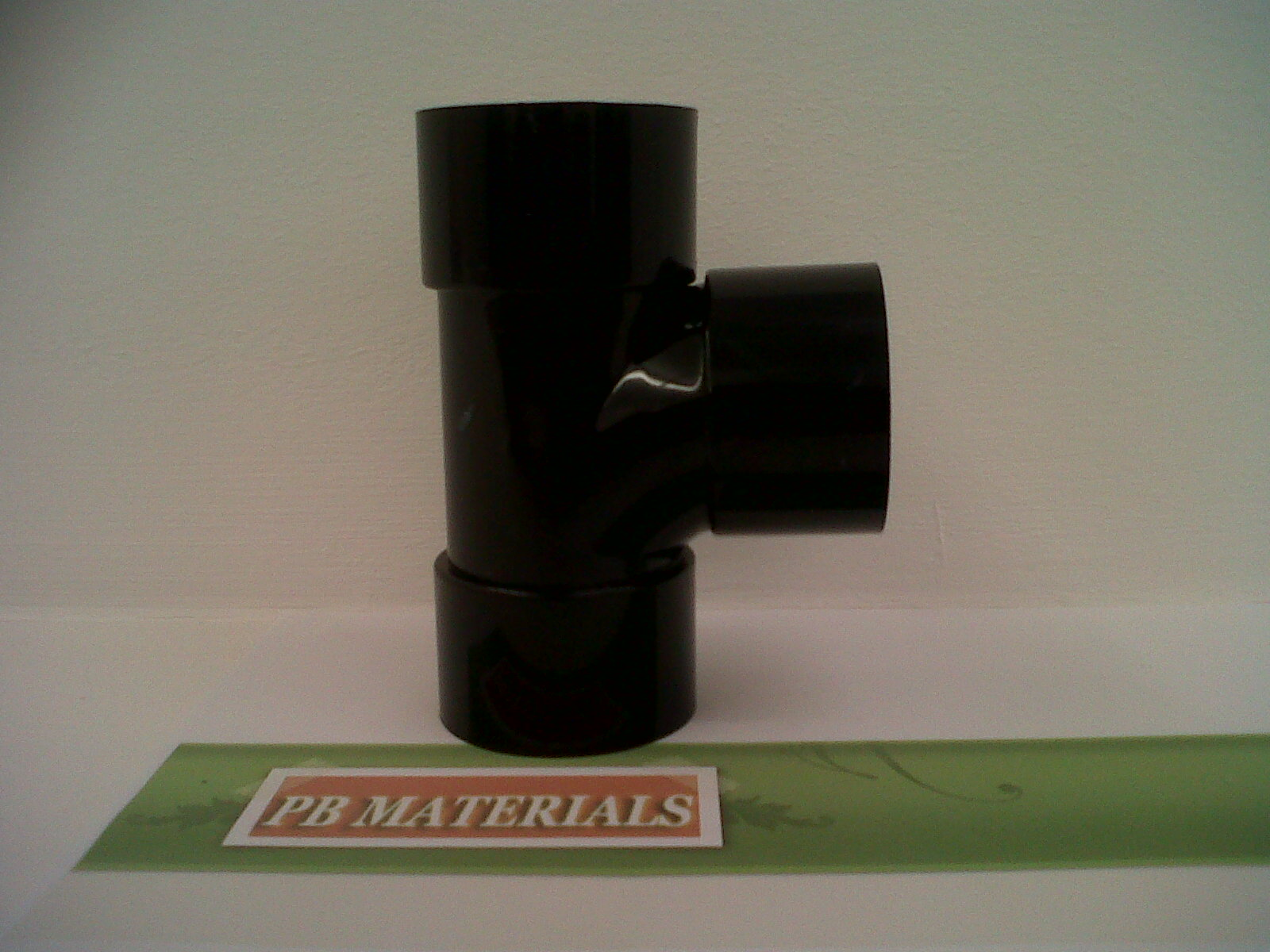 Pb materials mm solvent weld black tee