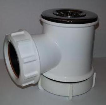 Pb materials floplast c shower trap 40mm x 19mm for 90mm soil pipe fittings