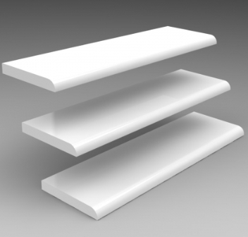 95mm 'D' Section White x 5m