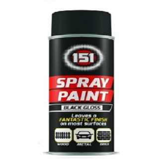 Multi Surface Aerosol Spray Paint - Black Gloss