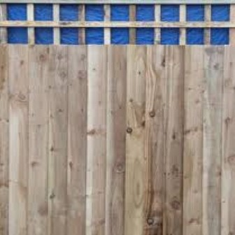 Featheredge Board with Lattice